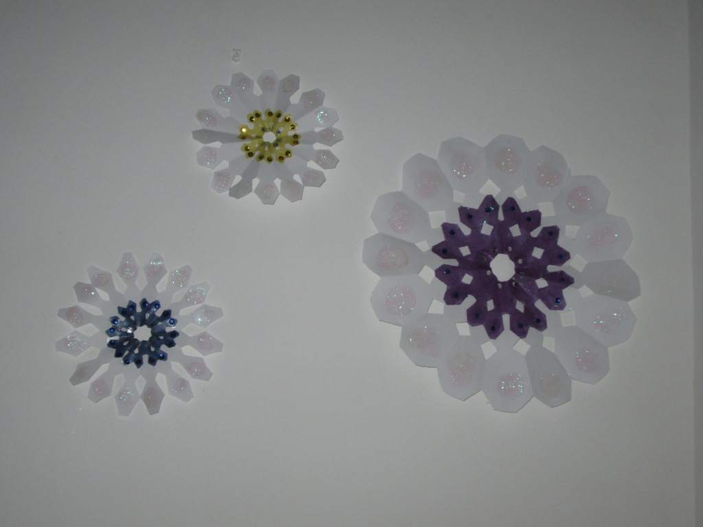 Wall snowflake decorations