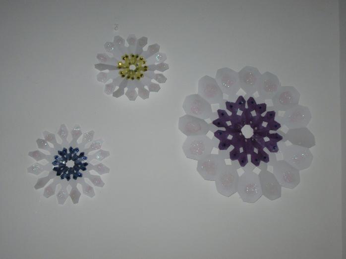 Wall snowflake decorations