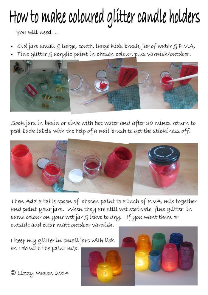 Jar candle holders 1
