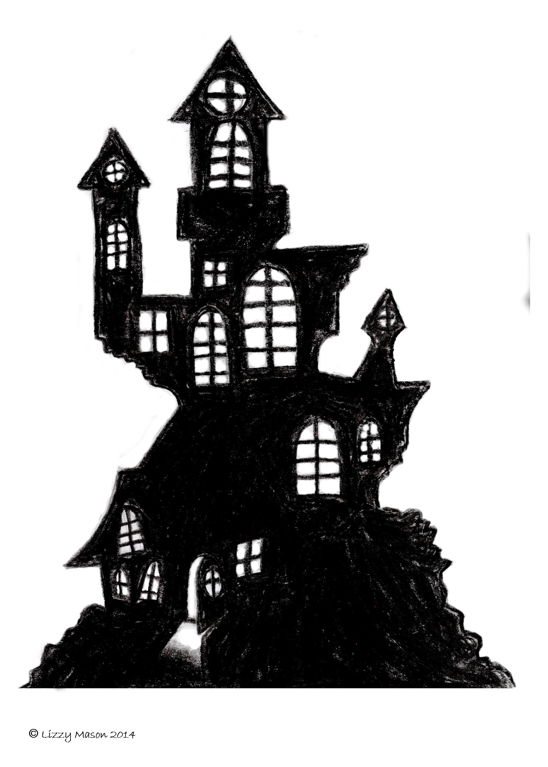 It's just a photo of Playful Haunted House Printable