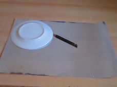 Then i made a moon with some silver card, draw round a small plate.