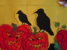 Crow on punkins