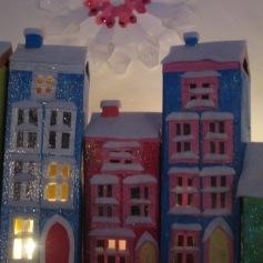 Snow Christmas village