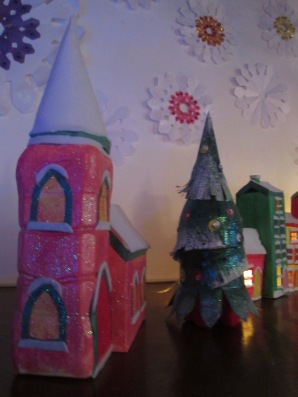 Snow Christmas village