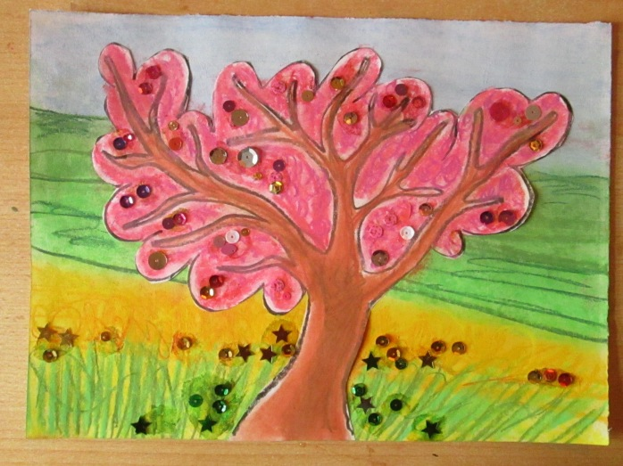 One pastel blossom tree, what will your look like?Let your imagination play and see a inner land of pastel play the possibilities are endless.