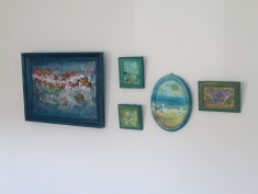 """""""Spring surprise"""" """"Ocean surprise 1-4 """" Going down and across from the left side of image."""