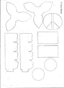 paper daffodils template