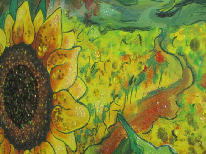 """For any inquiries please email me Lizzy Mason at lizzymasonart@hotmail.co.uk 2009 """"Joyous changes are here to play"""""""