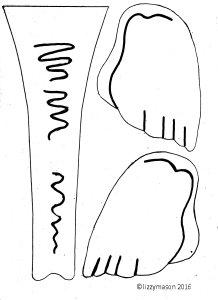 Elephant mask trunk & ears india 001