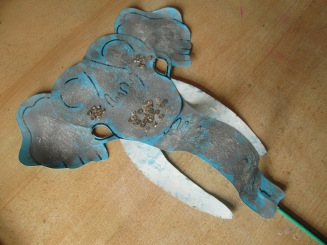 One male Indian elephant mask.