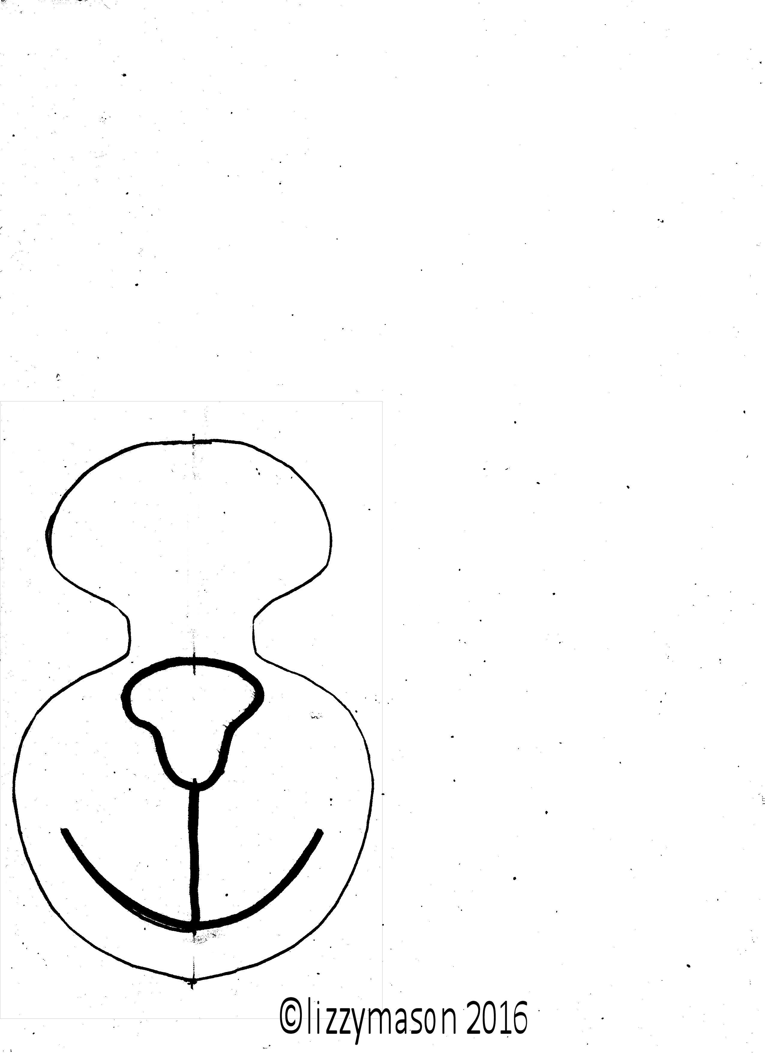 monkey mask nose template 002