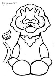 Lion art template 001