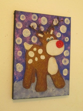 Felt Christmas Reindeer art