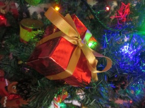 Beautiful gifts, decorations for Christmas.