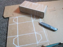This is how to draw out a template for your boxes, the four corners have tabs for gluing.