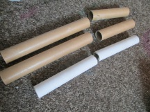 This is how I dived my cardboard tube, you can do it how you want and play with the amount box and tube you use.