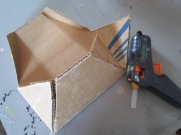 Reaping the same process as with boxes cut and score folds, plus thin tabs.