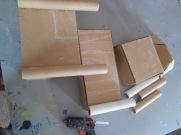 Then glue parts as desired with glue gun.